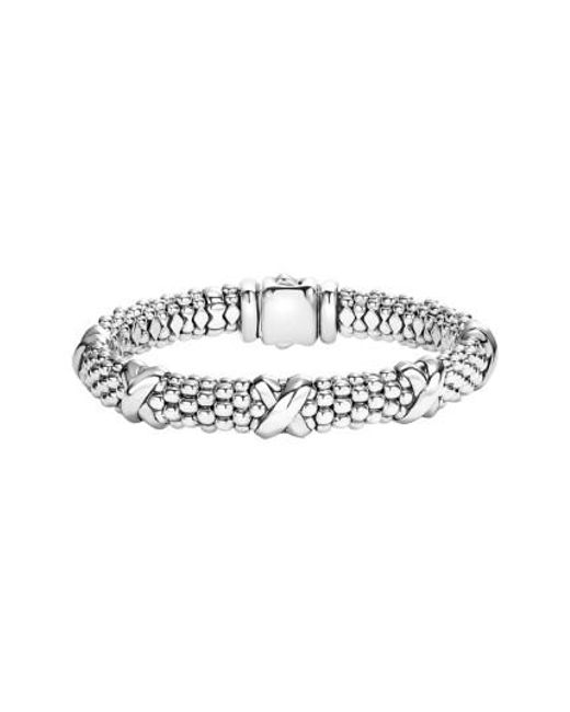 Lagos - Metallic 'signature Caviar' Oval Rope Bracelet - Lyst