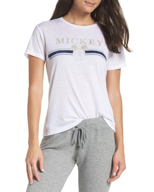 David Lerner - White Gold Mickey Short Sleeve Tee - Lyst