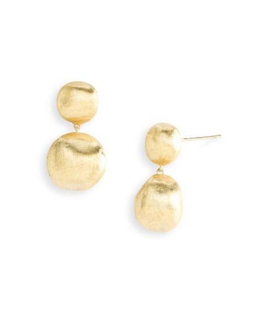 Marco Bicego | Metallic 'africa Gold' Double Drop Earrings | Lyst