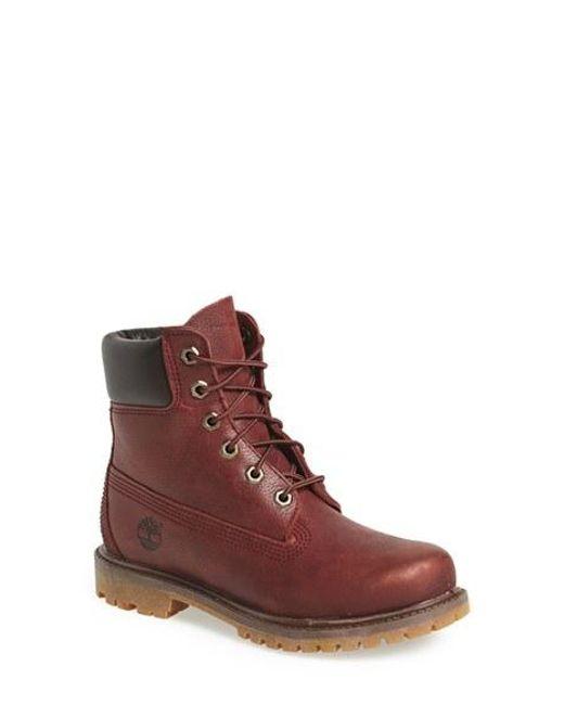 Timberland | Purple '6 Inch Premium' Waterproof Boot | Lyst