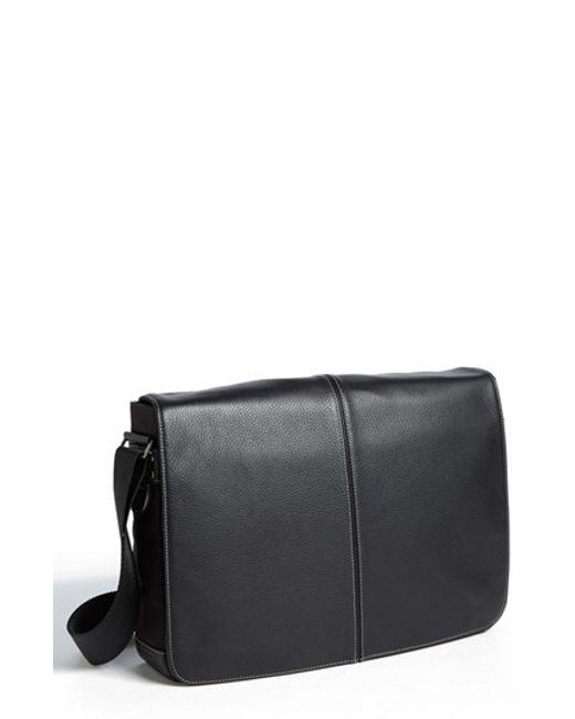 Boconi | Black Tyler Slim Leather Laptop Briefcase for Men | Lyst