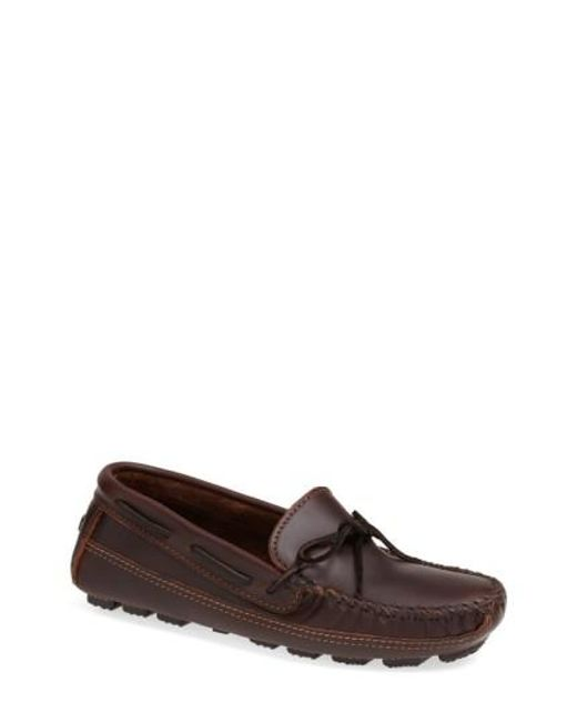 Minnetonka - Brown Leather Driving Shoe for Men - Lyst
