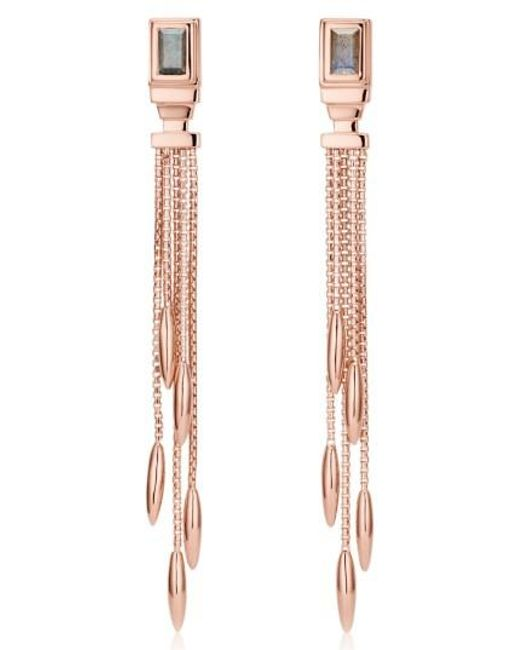 Monica Vinader | Metallic Baja Deco Fringe Earrings | Lyst