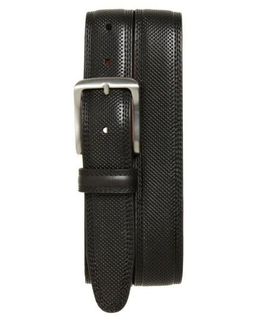 Johnston & Murphy | Black Textured Leather Belt for Men | Lyst