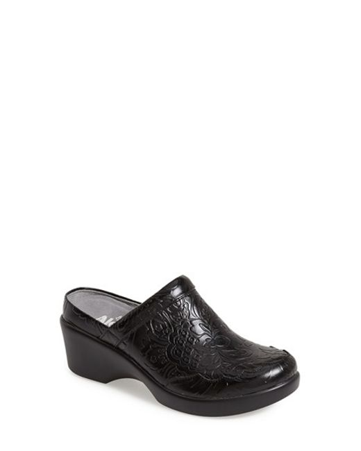 Alegria | Black Isabelle Leather Clogs | Lyst