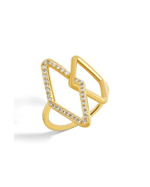 BaubleBar | Metallic Triangulum Ring | Lyst