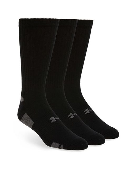 Under Armour | Black Heatgear 'trainer' Crew Socks for Men | Lyst