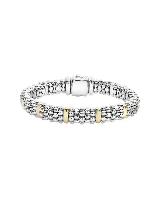 Lagos - Metallic Oval Caviar Rope Bracelet - Lyst