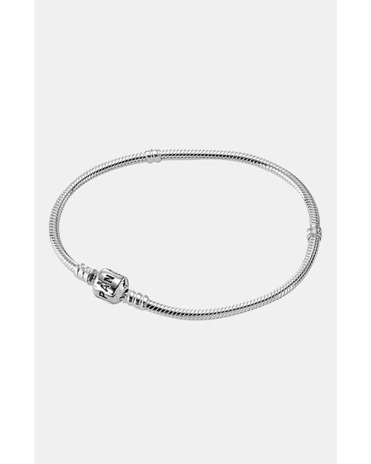 Pandora - Metallic Iconic Silver Charm Bracelet - Lyst