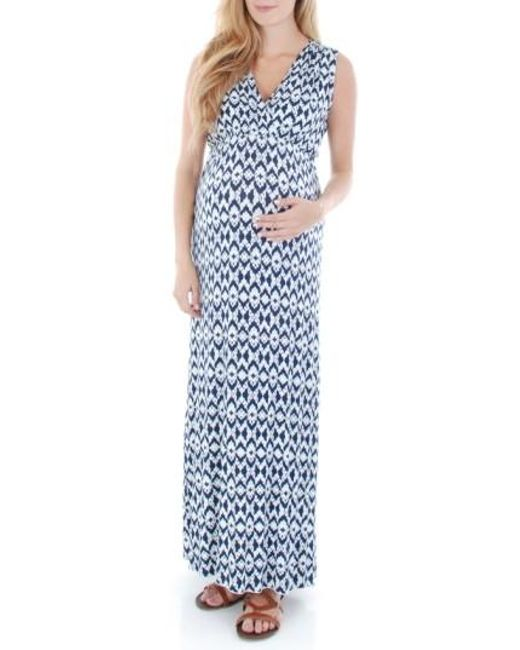 Everly Grey | Red 'jill' Maternity Maxi Dress | Lyst