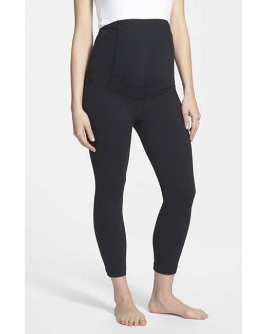 Ingrid & Isabel | Black Ingrid & Isabel Active Maternity Capri Pants With Crossover Panel | Lyst