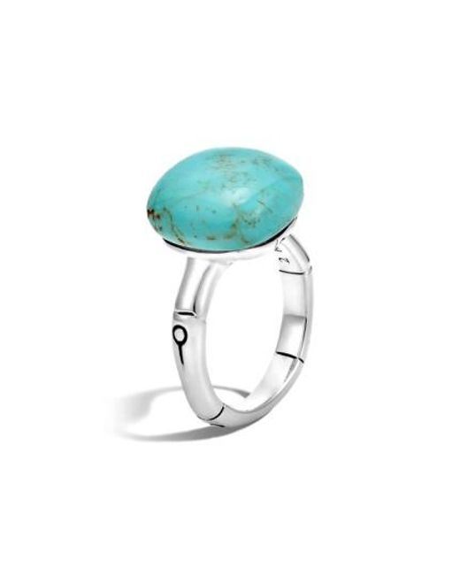John Hardy Orb Cut Ring With Turquoise MHDFruW
