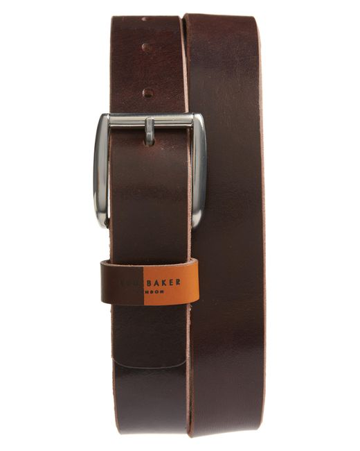 Ted Baker - Brown Quica Leather Belt for Men - Lyst