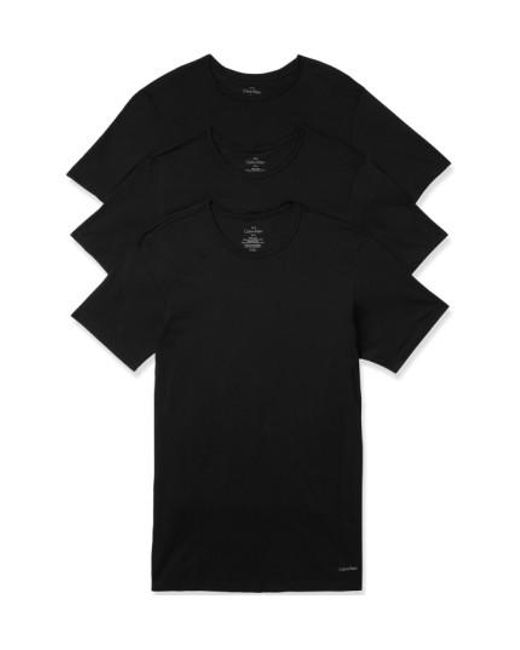 Calvin Klein | Slim Fit 3-pack Cotton T-shirt, Black for Men | Lyst
