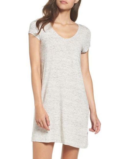 DKNY | Gray 'city Essentials' V-neck Sleep Shirt | Lyst