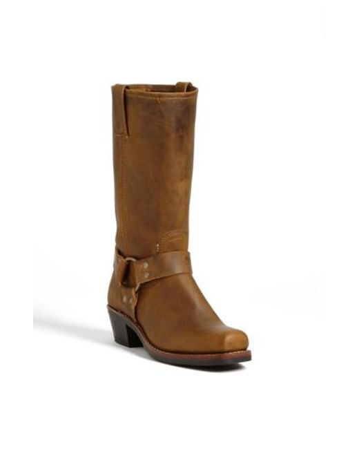 Frye | Brown 'harness 12r' Leather Boot | Lyst