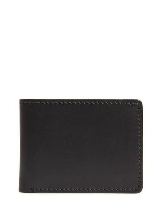 Tanner Goods - Black Utility Leather Bifold Wallet for Men - Lyst