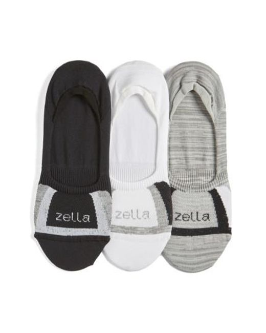 Zella   3-pack Low Profile Socks, White   Lyst