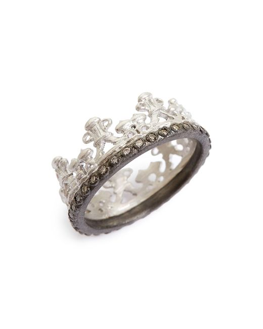 Armenta - Metallic Old World Half Crown Diamond Ring - Lyst