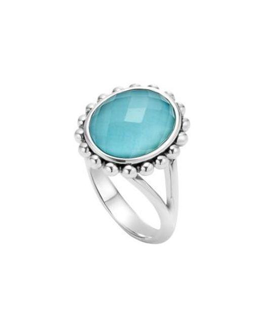 Lagos | Blue 'maya' Small Doublet Ring | Lyst