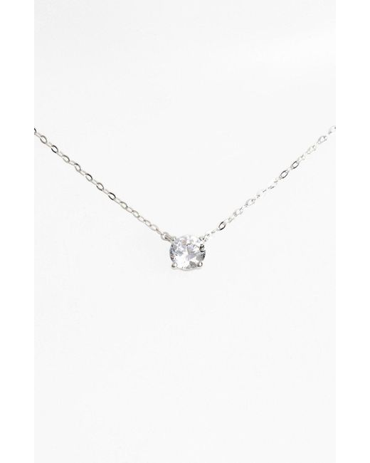 Nadri - Metallic Cubic Zirconia Pendant Necklace - Lyst