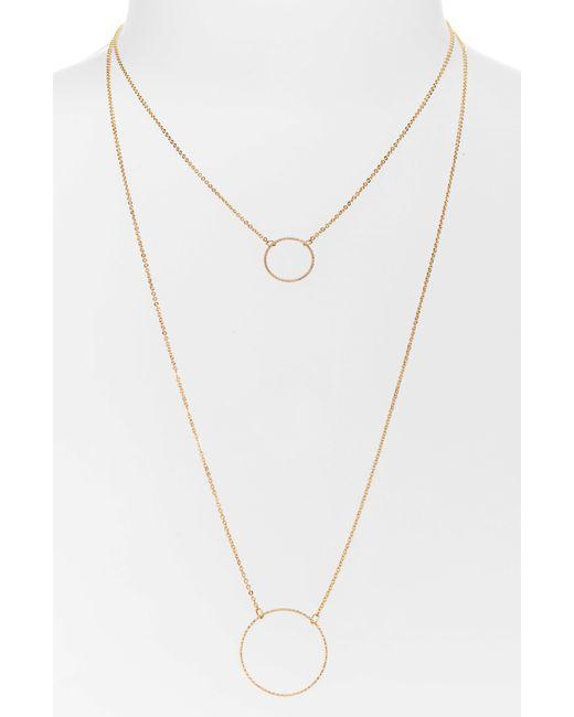 Panacea - Metallic Layered Necklace - Lyst