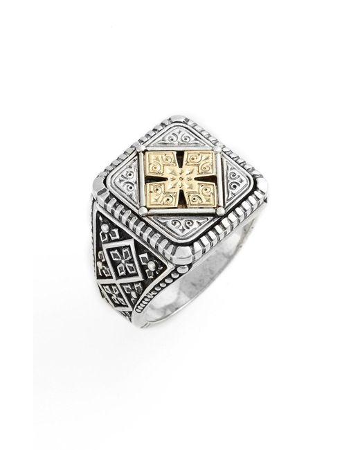 Konstantino - Metallic Silver & Gold Classics Square Ring for Men - Lyst