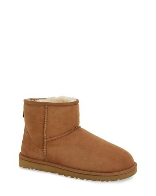 Ugg - Brown 'Classic Mini' Boot - Lyst