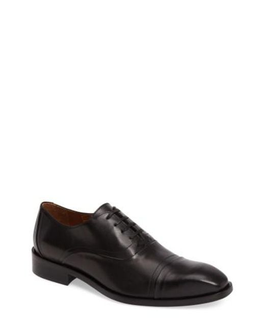 Donald J Pliner - Black Valerico Cap Toe Oxford for Men - Lyst