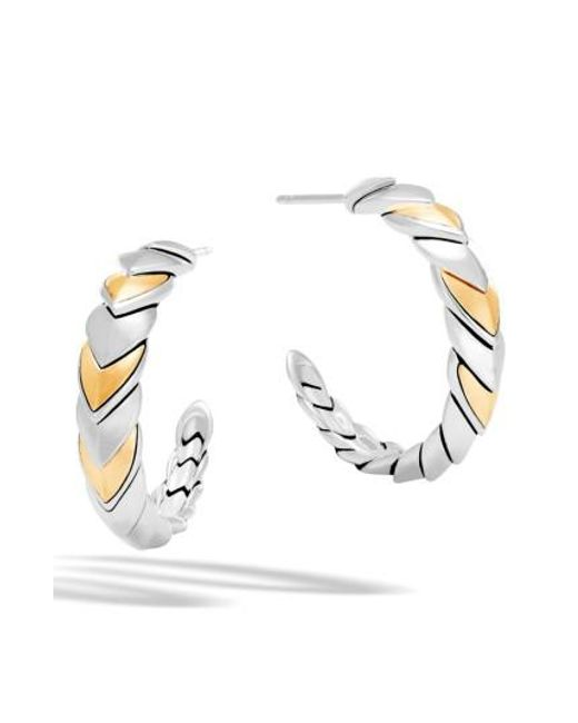 John Hardy | Metallic Legends Naga Hoop Earrings | Lyst