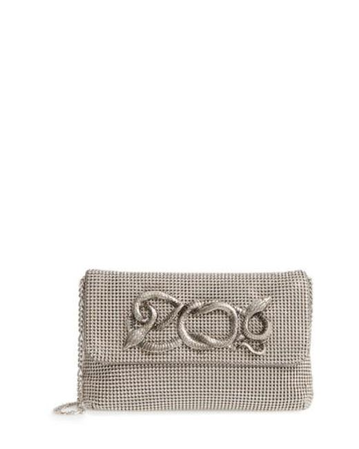 Whiting & Davis - Metallic Serpent Mesh Clutch - Lyst