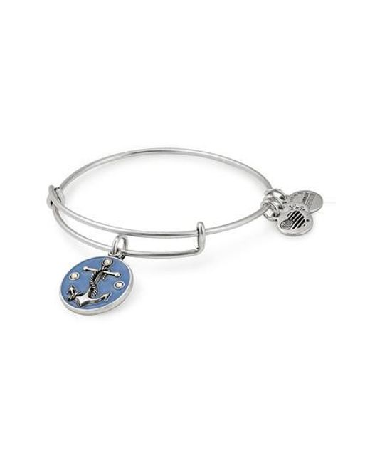ALEX AND ANI - Metallic Anchor Color Infusion Expandable Charm Bracelet - Lyst