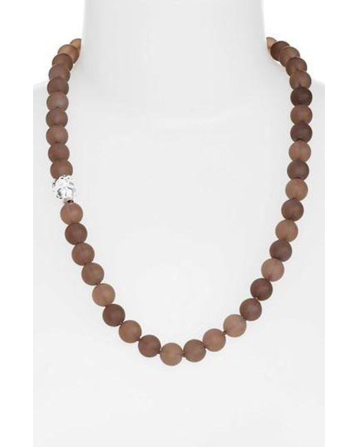 Simon Sebbag   Brown Beaded Necklace   Lyst