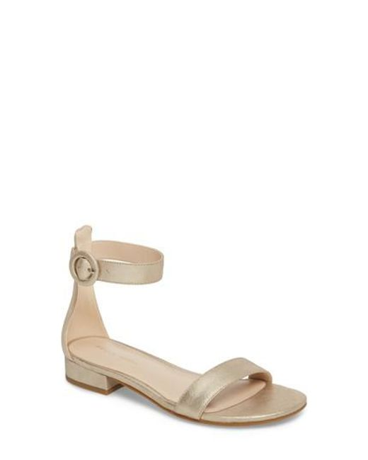 Pelle Moda - Metallic Newport Sandal - Lyst