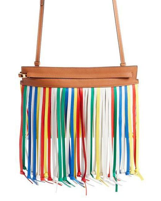 T Pouch Fringe Leather Bag Loewe C5VpSTr