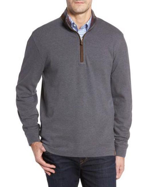 Thaddeus   Gray Clifton Quarter Zip Pullover for Men   Lyst