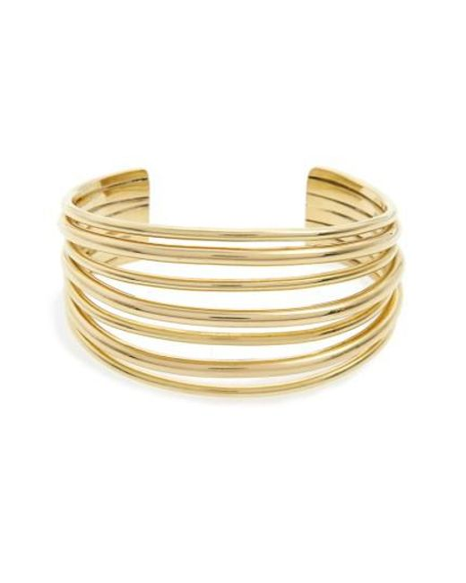 Soko Layered Strand Cuff Bracelet Brass leUHbEIlB
