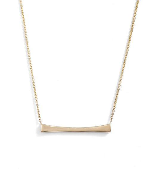Bony Levy - Metallic Bar Pendant Necklace (nordstrom Exclusive) - Lyst