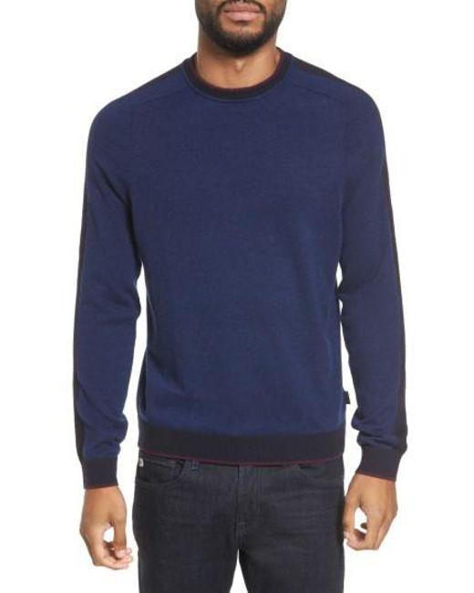Ted Baker | Blue Norpol Crewneck Sweater for Men | Lyst
