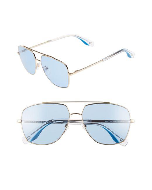 Marc Jacobs - Blue 58mm Navigator Sunglasses - Lyst