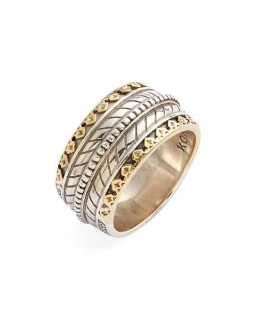 Konstantino | Metallic 'orpheus' Carved Band Ring for Men | Lyst