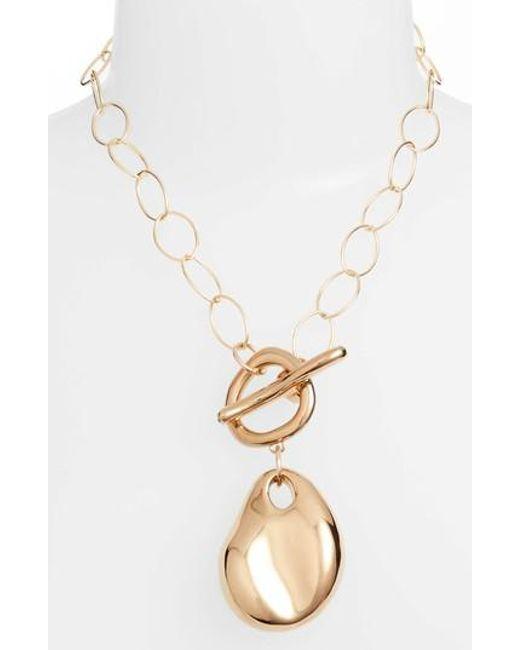 Simon Sebbag | Metallic Vermeil Abstract Pendant Necklace | Lyst