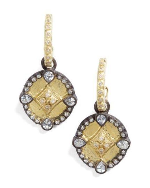 Armenta | Metallic Old World Shield Diamond Drop Earrings | Lyst