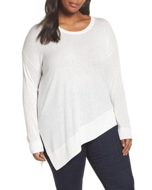 Sejour | White Asymmetrical Hem Sweater | Lyst