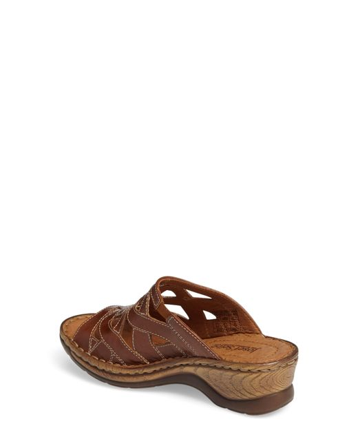 bb080e3b63825 ... Josef Seibel - Brown Catalonia 44 Slide Sandal - Lyst