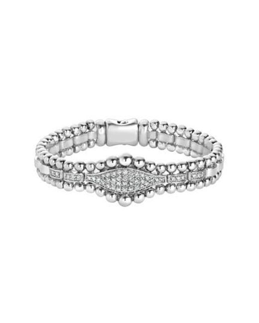 Lagos - Metallic Caviar Spark Diamond Marquise Link Bracelet - Lyst
