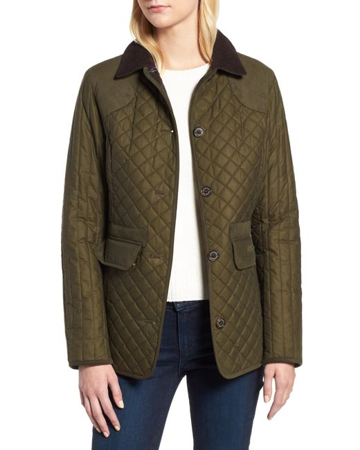 Barbour - Green Dunnock Water Resistant Waxed Cotton Jacket - Lyst