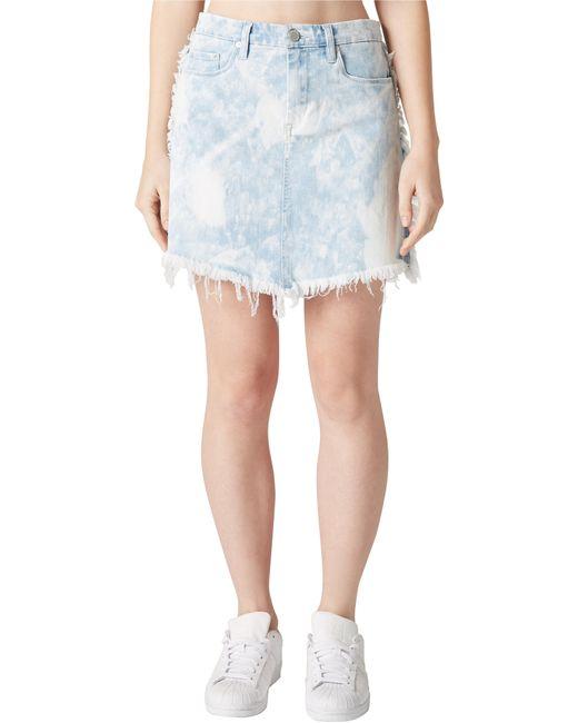Blank NYC - Blue Acid Wash Denim Skirt - Lyst