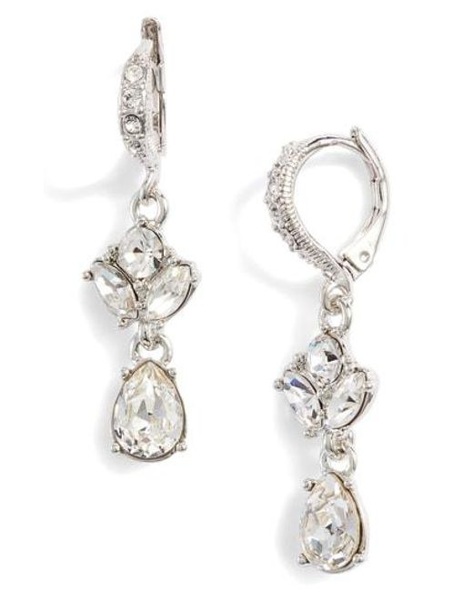 Givenchy - Metallic Small Crystal Drop Earrings - Lyst