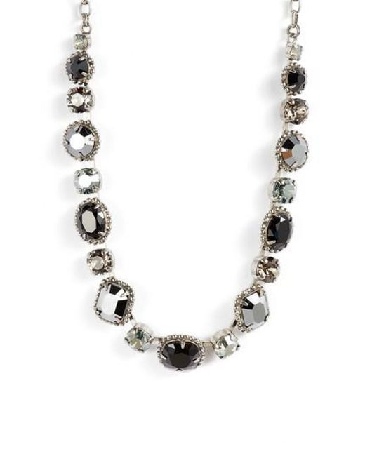 Sorrelli - Black Embellished Elegance Crystal Necklace - Lyst